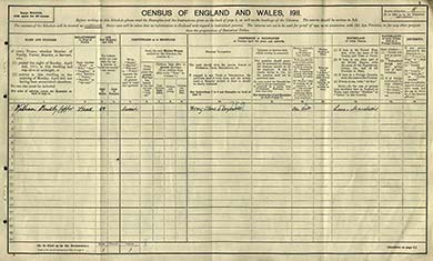 The census schedule of the Capper family, near Manchester city centre. The National Archives.